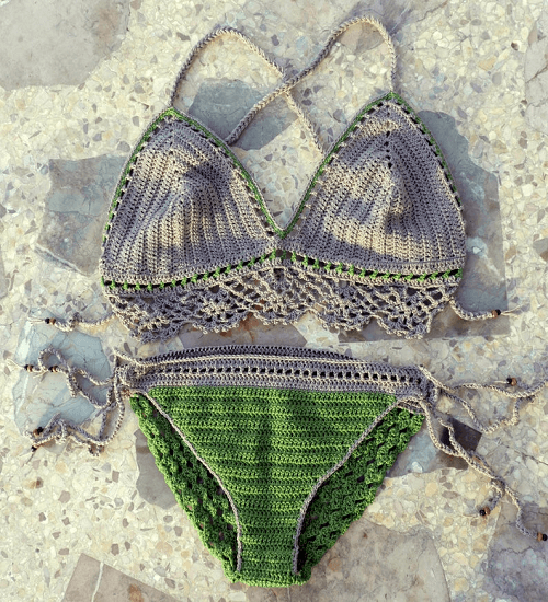 Crochet Bikini Set Pattern by Nomad Stitches