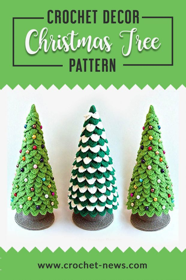 crochet decor christmas tree pattern