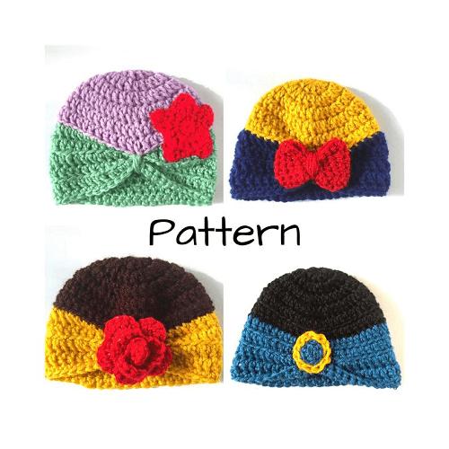 Crochet Disney Princess Hat Pattern by Hooks And Yarn Studio