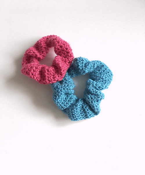 Crochet Hair Scrunchie Pattern by Michelle White