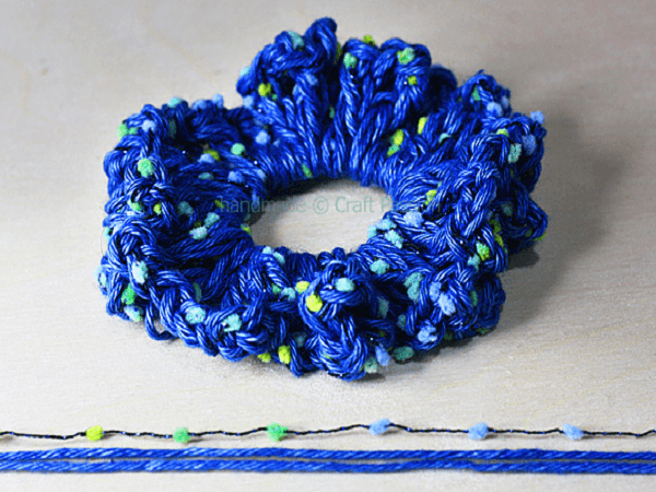 Crochet Hair Scrunchies Pattern by Craft Passion