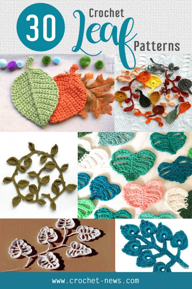 30 free and paid crochet leaf patterns