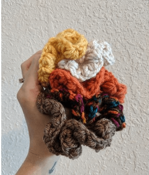 Crochet Meadows Scrunchie Pattern by LTK Cuties