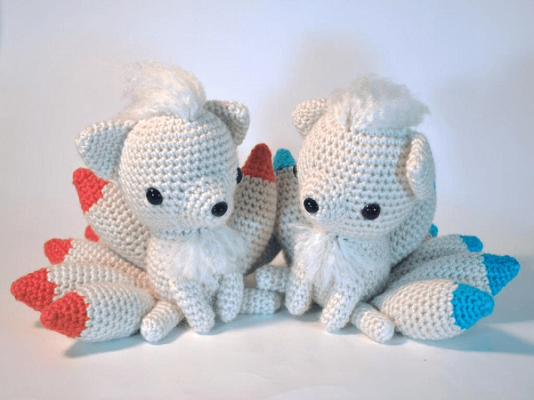 Crochet Ninetails Pattern by Secretly Gnoming Productions