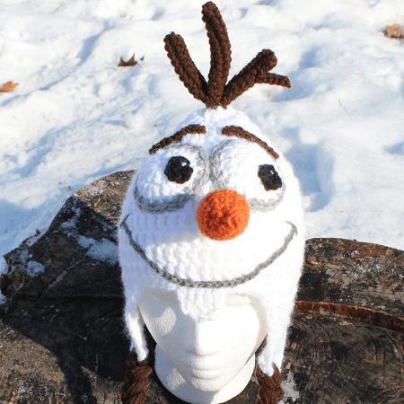 Crochet Olaf Hat Pattern by The Cozy Buckeye