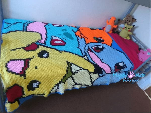 Crochet Pokemon Blanket Pattern by Hayley Made Peterhead