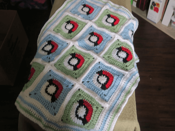 Crochet Pokemon Granny Square Blanket Pattern by Dunn Life & Crafts