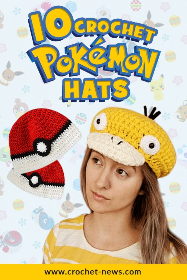 crochet pokemon hats