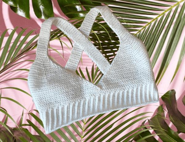 Crochet Ribbed Bralette Pattern by Dulcie Marie Designs
