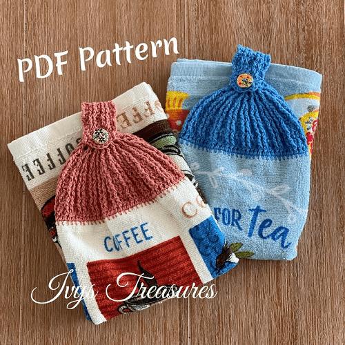 Crochet Tea Towel Topper Pattern by Ivy's Treasures