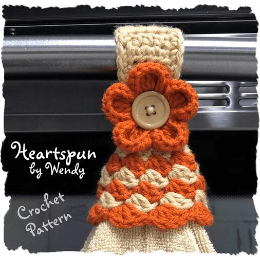 Crochet Towel Topper Ring Pattern by Heartspun By Wendy