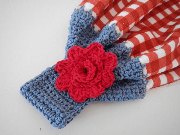 Crochet Towel Topper Pattern by Apple Blossom Dream
