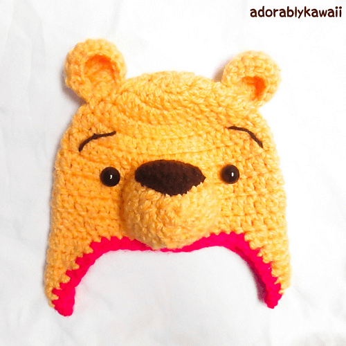 Crochet Winnie The Pooh Hat Pattern by Amanda Maciel