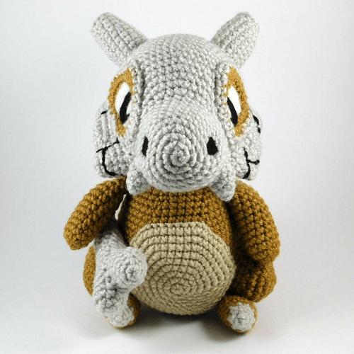 Cubone Crochet Amigurumi Pattern by 1 Up Crochet