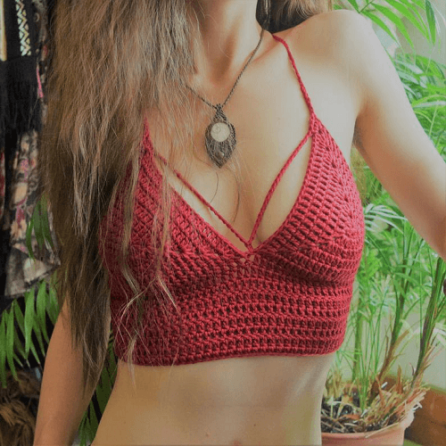 Crochet Curvy Bralette Pattern by Morale Fiber
