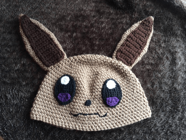 Eevee Crochet Hat Pattern by Geek Boutique Crochet