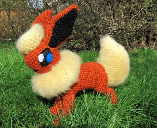 Flareon Crochet Pattern by Nerdy Knitter Designs
