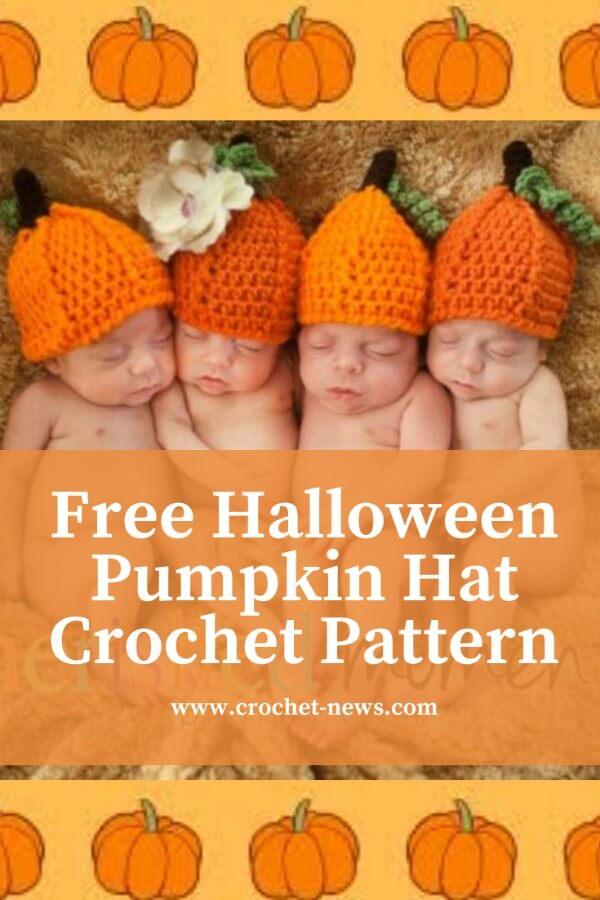 halloween baby and adult pumpkin hat crochet pattern