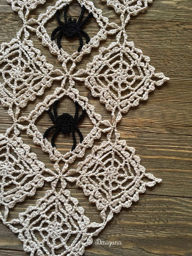 halloween wall doily crochet pattern
