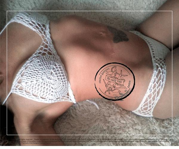 Honeycomb Bikini Crochet Pattern by The Curly Vine