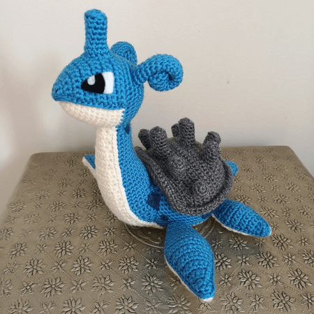 Lapras Crochet Pattern by Shea Crochetxx