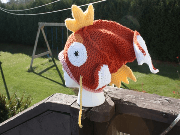 Magikarp Hat Crochet Pattern by Crocheting In Canada