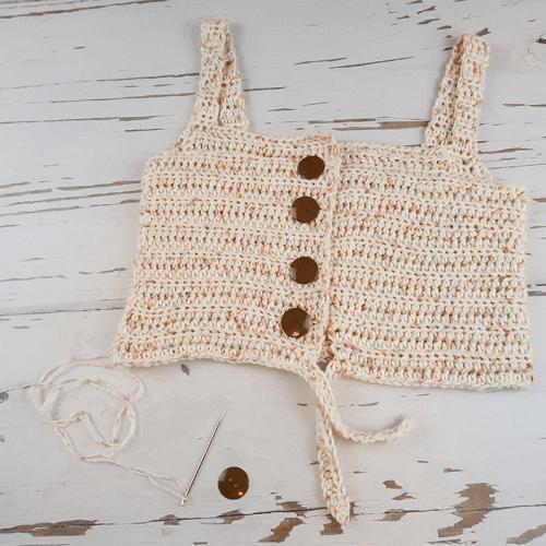Meadow Tie Top Crochet Bralette Pattern by Taylor Lynn Crochet