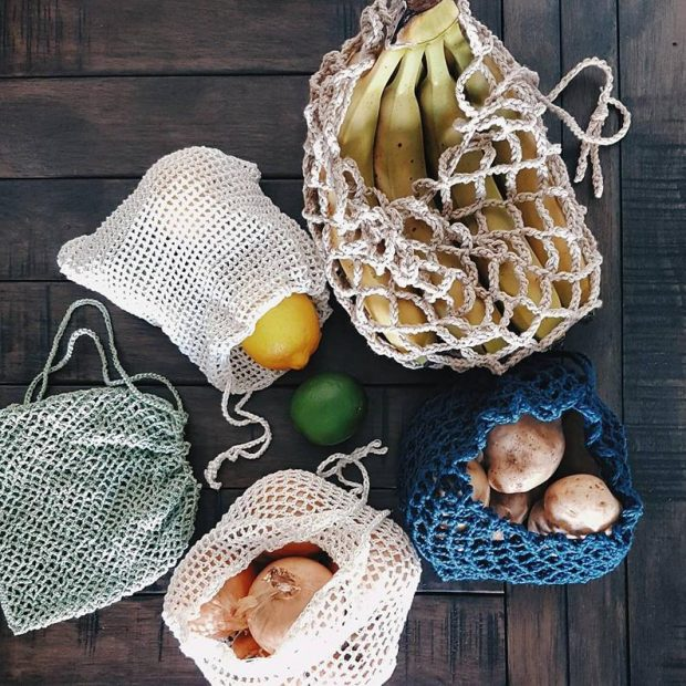 mesh produce bag crochet pattern collection