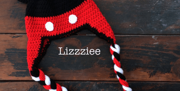 Mickey Mouse Crochet Hat Pattern by Lizzziee