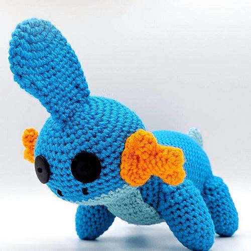 Mudkip Crochet Amigurumi Pattern by Teaberry Intrigue