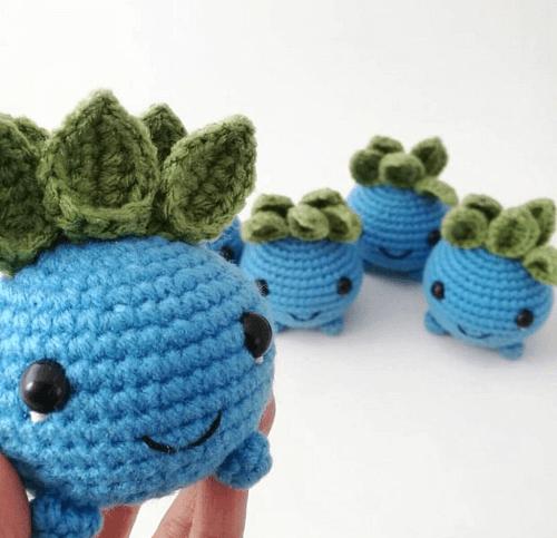 Oddish Crochet Pattern by Knot Bad