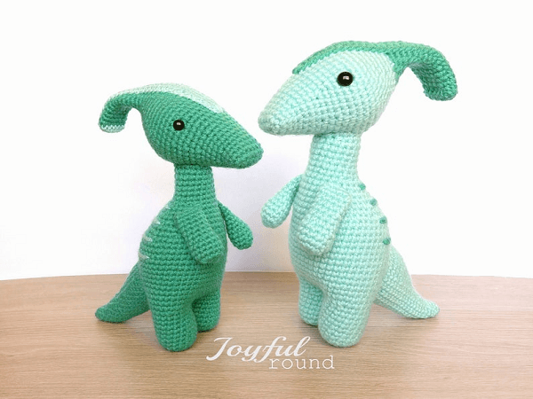 Parasaurolophus Crochet Pattern by Joyful Round
