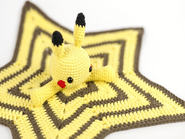 Pikachu Lovey Blanket Crochet Pattern by Amigudolls