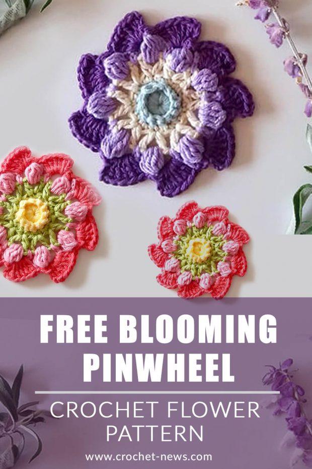 Free Blooming Pinwheel Crochet Flower Pattern Flower