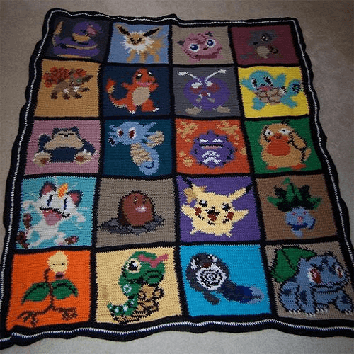 Pokemon Afghan Blanket Crochet Pattern by Stephy W 2001