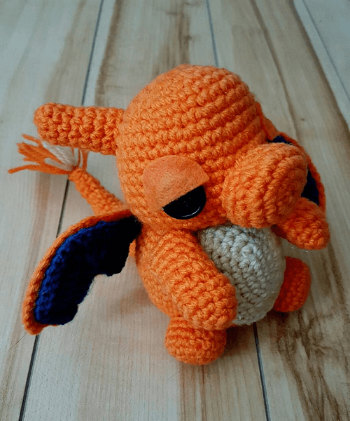 Pokemon Charizard Amigurumi Pattern by Outlaw Heart Creations