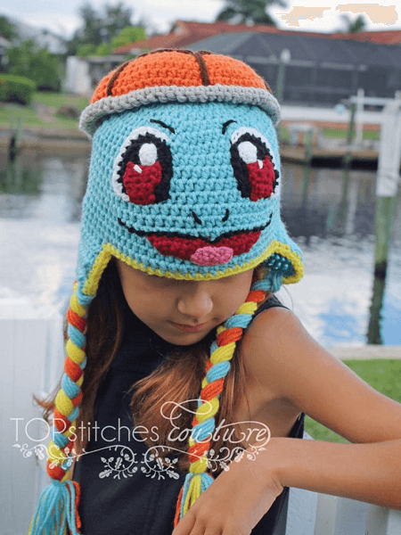 Pokemon Squirtle Crochet Hat Pattern by Top Stitches Crochet