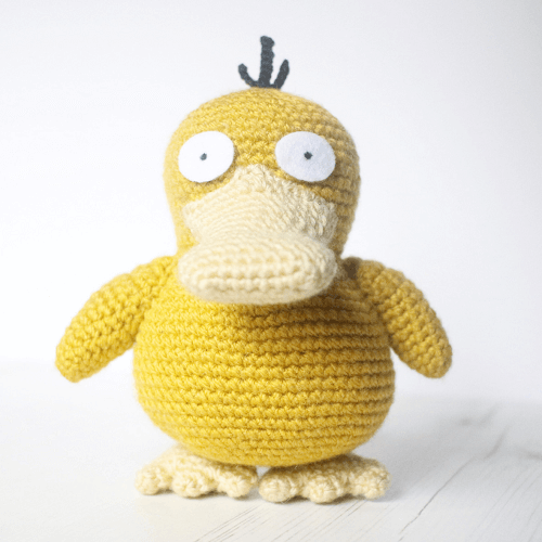 Psyduck Amigurumi Crochet Pattern by Loopy Catherine
