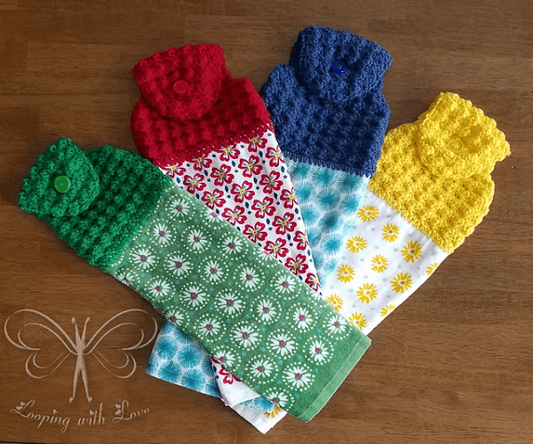 Puff Kitchen Towel Topper Pattern by Ashley Bower