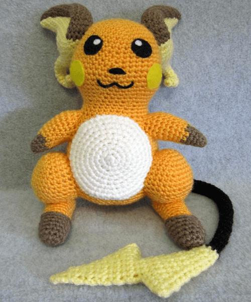 Raichu Crochet Pattern by Nerdy Knitter Designs