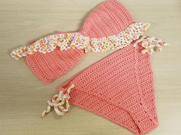 Ruffle Top Lola Bikini Crochet Pattern by JJ Knits n Knots