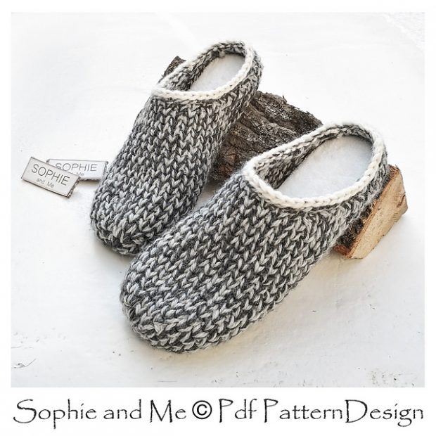 Mens Comfy Crochet Slippers Pattern
