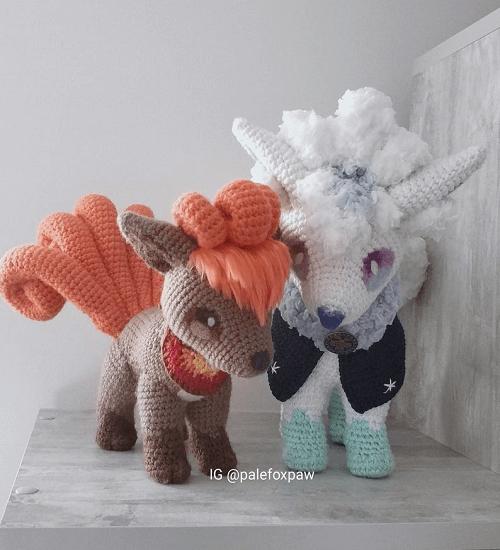 Vulpix Crochet Pattern by Palefox Crafts