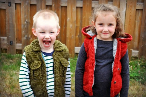 warm cozy Toddler Boy Crochet Vest Pattern