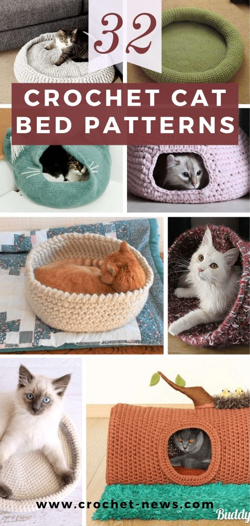 32 Crochet Cat Bed Patterns
