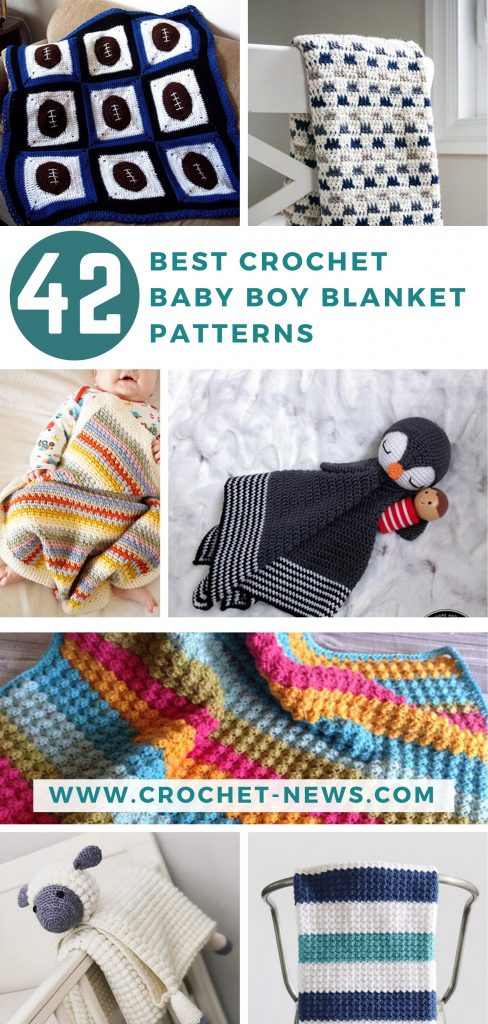 42 Best Crochet Baby Boy Blanket Patterns for 2020