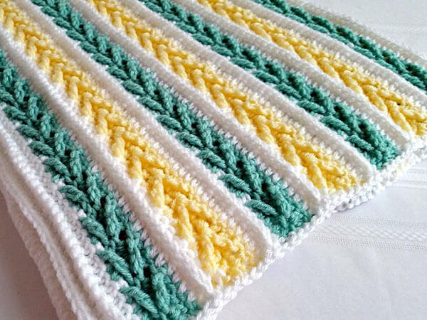 Avalon Crochet Baby Blanket By PeachtreeCottage
