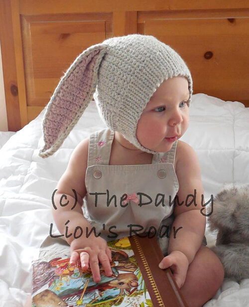 Brer Bunny Baby Bonnet Crochet Pattern By TheDandyLionsRoar