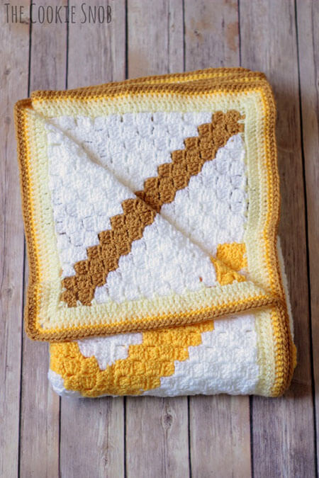 C2C Chevron Baby Blanket By Cookie Snob