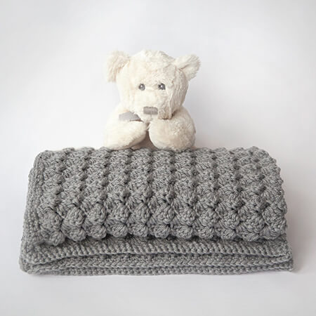 Cozy and Free Crochet Baby Blanket By Alnaar of Leeleeknits